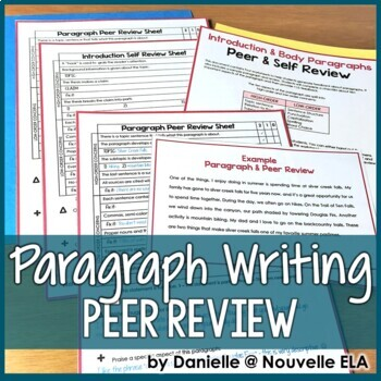 Paragraph Peer and Self Review Worksheets - Sample Review included!