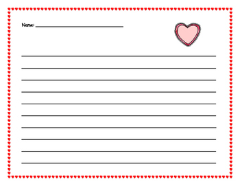 Paragraph Planner: Valentine's Day is  A Lot of Fun