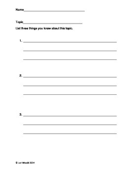 Paragraph Planning Page - Topic/Detailes/Supporting/Conclu
