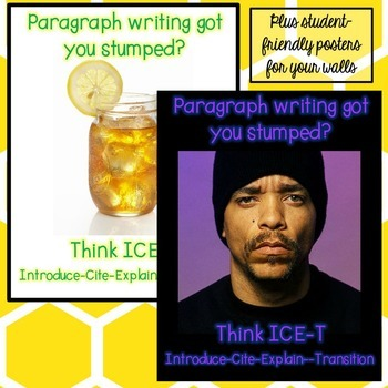 Back to School Paragraph Writing Practice Review for Middle and High School