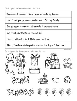 Paragraph Puzzle - December: Oh Christmas Tree