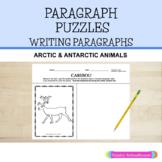 Paragraph Puzzles: Arctic & Antarctic Animals - Winter Paragraph Writing