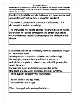 Paragraph Reconstruction