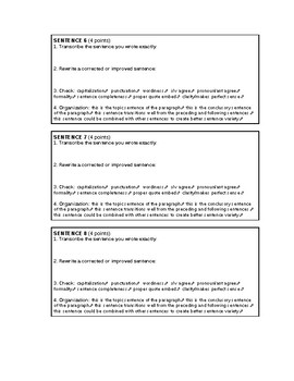 Paragraph Revision Worksheet