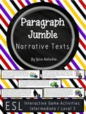Narrative Texts Paragraph Sequencing