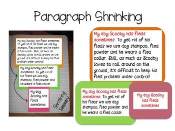 Paragraph Shrinking (Summarizing Graphic Organizer)