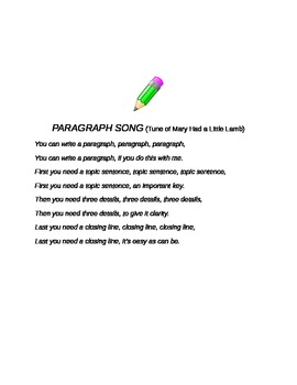 Paragraph Song