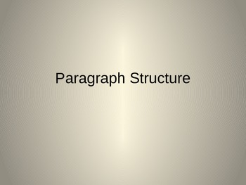 Paragraph Structure Introductory Powerpoint.