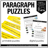Paragraph Structure Puzzles: 1st & 2nd Grade Writing for Distance Learning