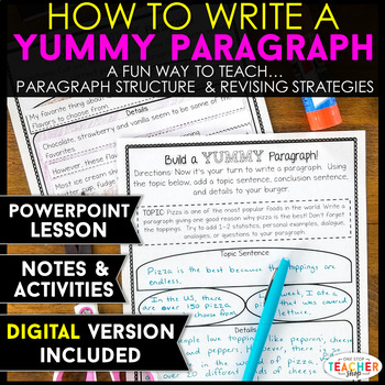 Paragraph Writing Lesson and Activities | Google Classroom | Distance Learning