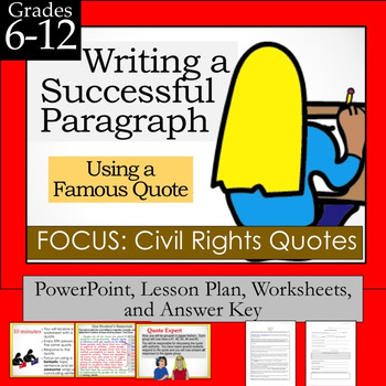 Writing a Successful Paragraph Using a Famous Quote