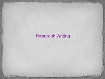 Paragraph, Thesis & 5 Paragraph Writing