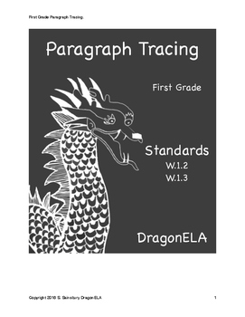 Paragraph Tracing First Grade