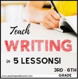 Paragraph Writing Curriculum | Informative Narrative Persuasive Opinion Bundle