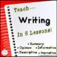 Paragraph Writing Curriculum   Informative Narrative Persuasive Opinion Bundle