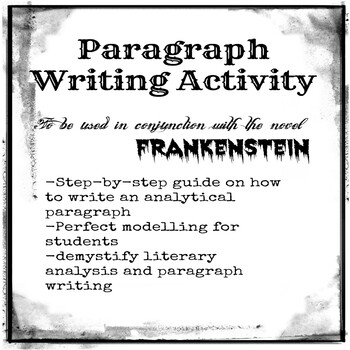 Paragraph Writing Activity in conjunction with Frankenstein