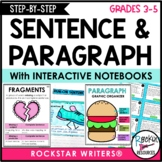 Paragraph Writing and Sentence Structure - How to Write a Paragraph Bundle