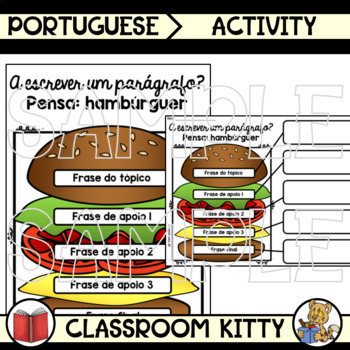 Paragraph Writing Anchor Chart and Activities : Portuguese