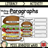 Paragraph Writing Anchor Chart and Worksheets