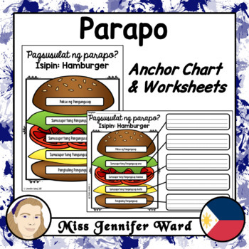 Paragraph Writing Anchor Chart and Worksheets in Tagalog