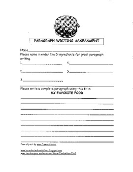 Paragraph Writing Assessment