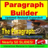 Paragraph Builder PowerPoint, Google Slides: Topic Sentence, Evidence, Support