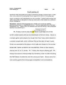 Paragraph Writing Bundle (10 Worksheets)