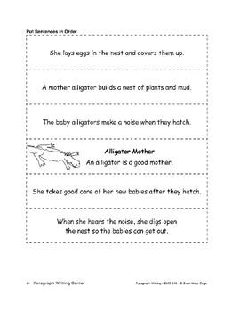 Paragraph Writing Center: Sentences in Order