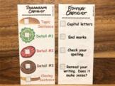 Hamburger Paragraph Writing Checklist & Editing Checklist
