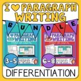 Paragraph Writing Differentiation Bundle for Grades 5-6 Di