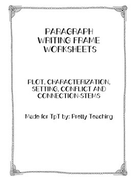 Paragraph Writing Frames