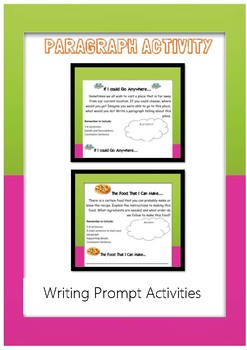 Paragraph Writing Freebie for Exposition Writing and Narrative Writing