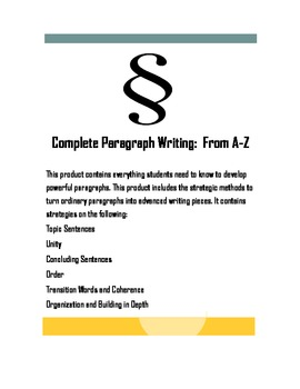 Paragraph Writing From A-Z: All the Strategies Students Need to Know
