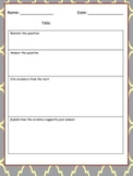 Paragraph Writing Graphic Organizer