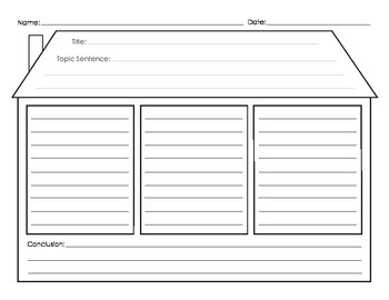 Paragraph Writing Graphic Organizer - House