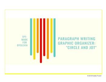 "Paragraph Writing Graphic Organizer: ""Circle and Jot"""