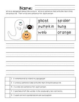 Paragraph Writing: Halloween Theme