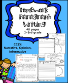 Paragraph Writing Homework: Great for Distance Learning
