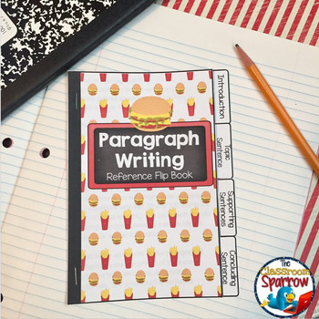 Paragraph Writing INTERACTIVE NOTEBOOK Flip Book (Quick Reference, Study Guide)