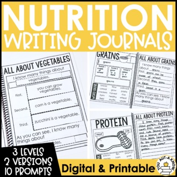 Paragraph Writing Journal: NUTRITION EDITION