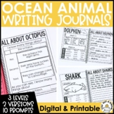 Paragraph Writing Journal: OCEAN ANIMAL EDITION