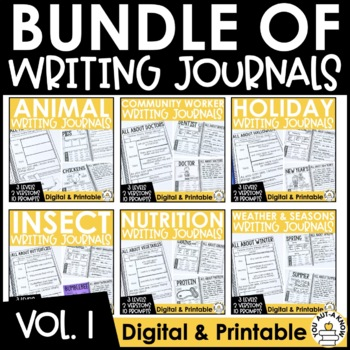 Paragraph Writing Journal: THE BUNDLE VOLUME 1