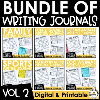 Paragraph Writing Journal: THE BUNDLE VOLUME 2