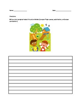 Paragraph Writing (Kindergarten and Above)