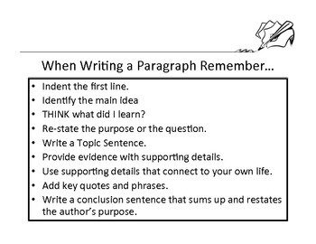 Paragraph Writing Outline