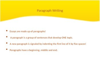 Paragraph Writing PPT