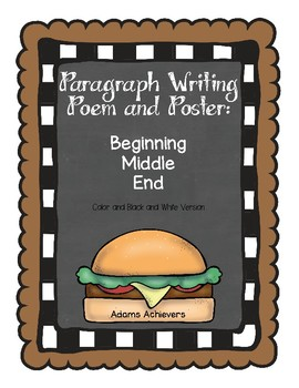 Paragraph Writing Poem and Poster FREEBIE