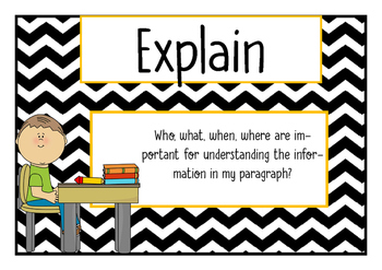 Paragraph Writing Prompt Posters