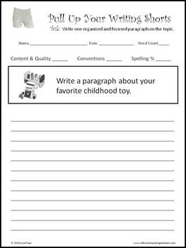 Paragraph Writing & Rubrics FREE EXAMPLES
