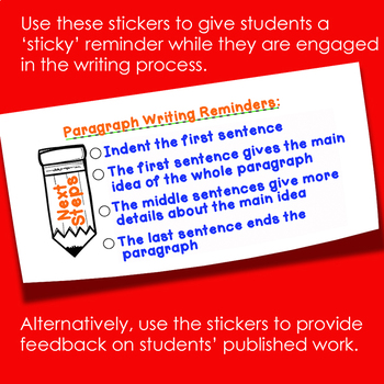 Writing: Paragraph Writing Sticker